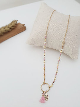 Collier rose Lulu Bijoux