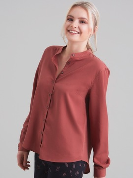 CHEMISE OCRE COL MAO Organication
