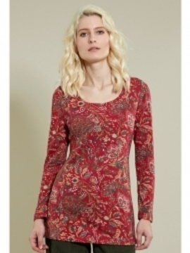 Top long rouge imprimé  Nomads Clothing
