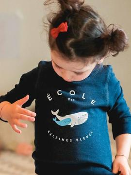 Sweat Baleine bleue Chat-Malo