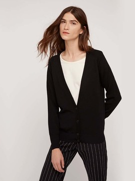 Cardigan en laine noir People Tree
