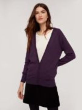 Cardigan en laine violet People Tree