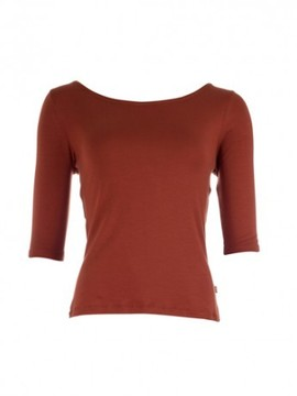 T-shirt manches 3/4 rouge  FROY & DIND