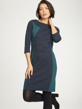 Robe bicolore navy et vert forêt  Thought