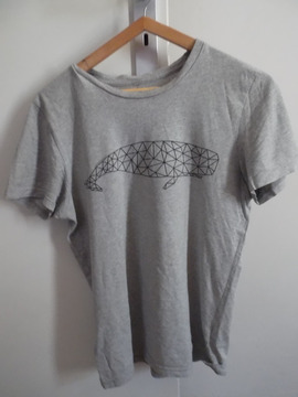 T-shirt gris en coton bio, S Armed Angels