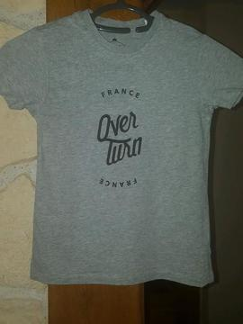 T-shirt gris Griezmann Over turn