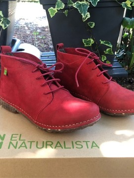 Bottines rouges cuir nubuck EL NATURALISTA