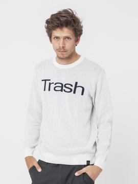 Pull coton recyclé THINKING MU Trash Thinking Mu