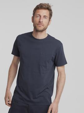 T-Shirt Thinking Mu Pocket bleu marine Thinking Mu
