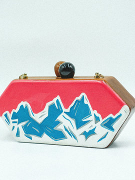 MOUNTAINS Wooden Clutch Woodo