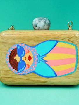 RUSSIAN DOLL Wooden Clutch Woodo
