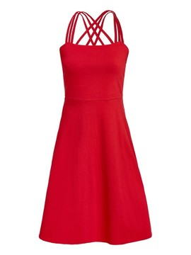 RILEY STRAPPY RED DRESS People Tree