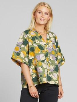 BLOUSE ODENSE FLORAL GREEN Dedicated
